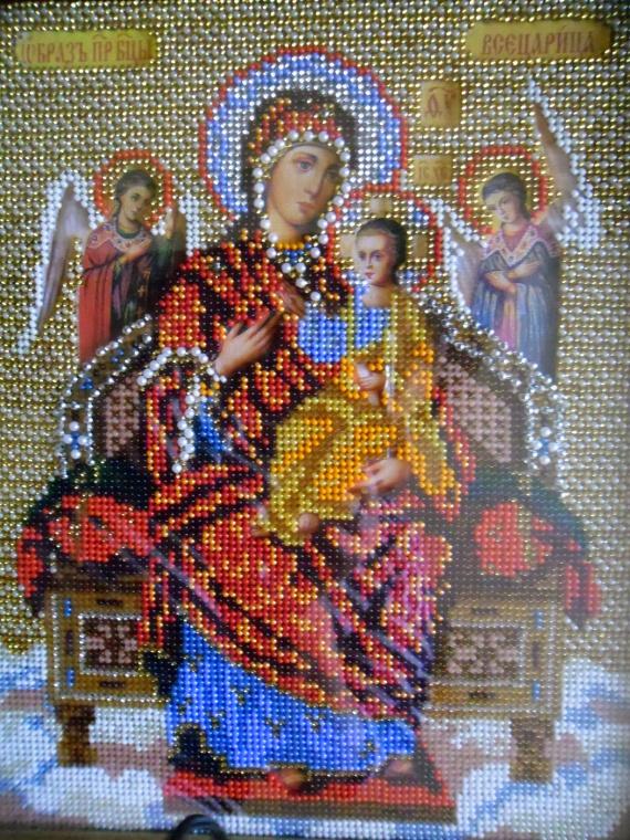 моя первая работа Богородица Всецарица