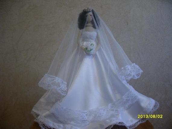 А это моя кукла тильда невеста
