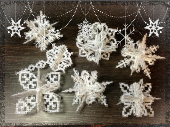 Снежинки 3д своими руками на новый год