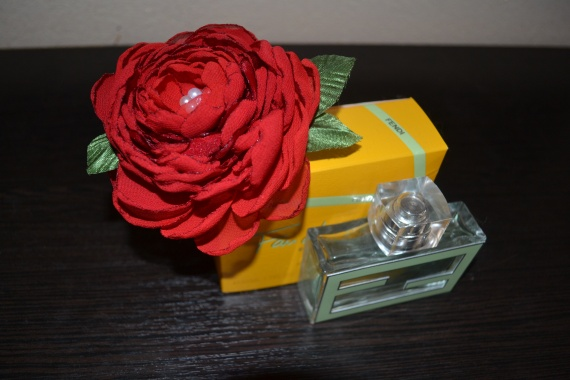 Цветы из ткани. Испанская роза