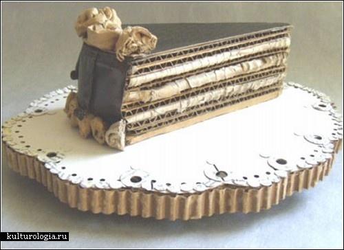 Торт из гофрокартона
