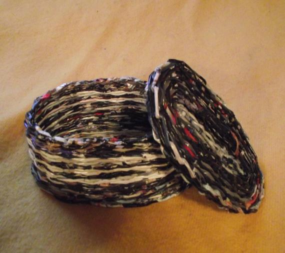 Плетение из газет. Несколько моих работ.