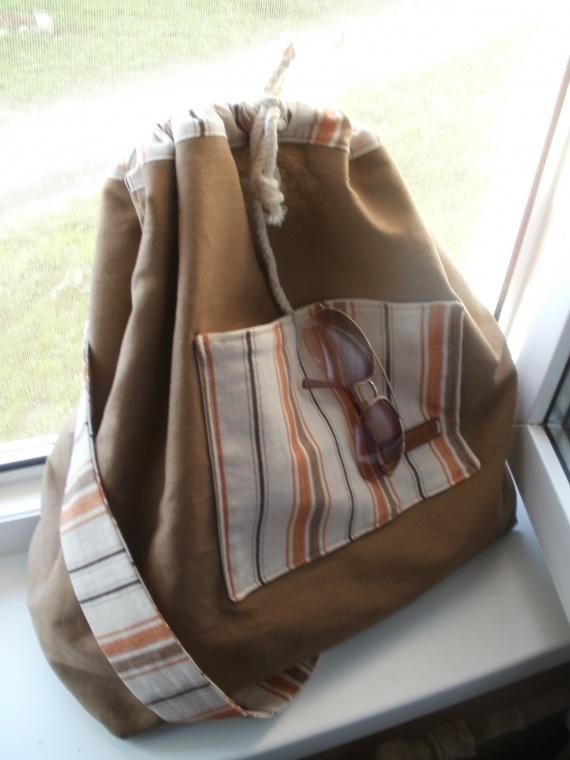 льняной рюкзачок