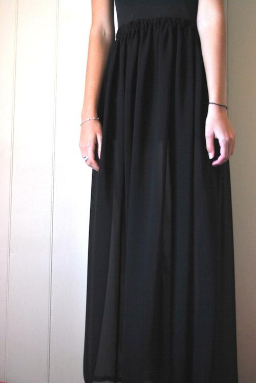 Сшить прозрачную юбку в пол 77