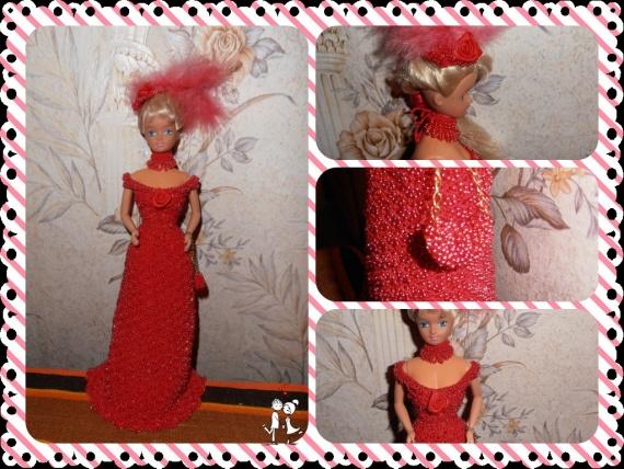 Вечернее платье На куклу Барби!!!!!!!!
