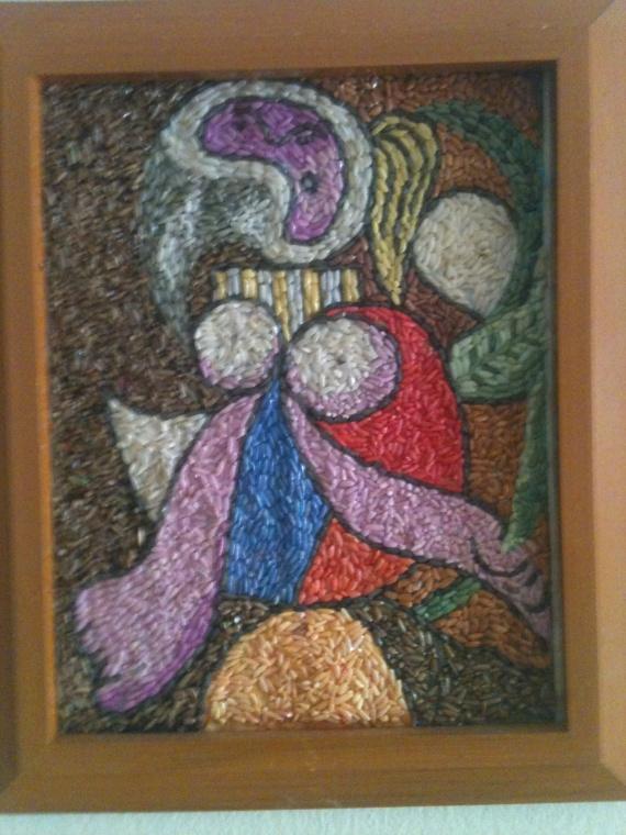 мозаика из риса