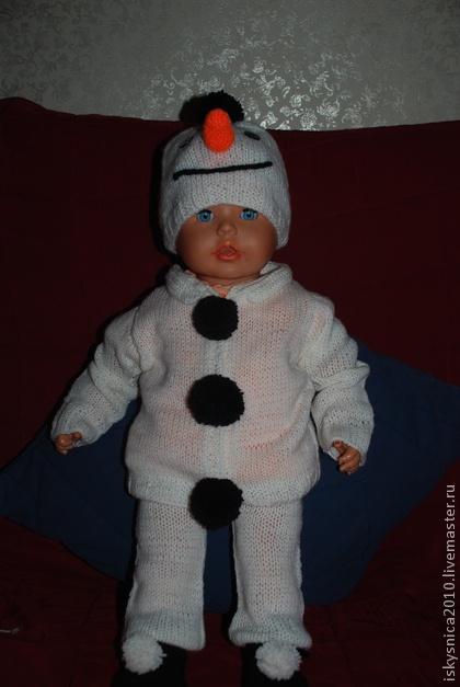 Как связать костюм снеговика