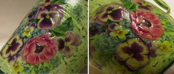 фрагмент с объемными цветами