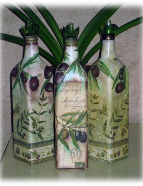 Бутылочки для оливкого масла