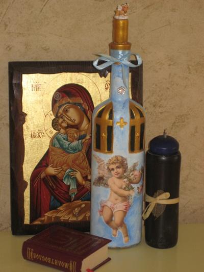 Пасхальное вино - декор бутылки