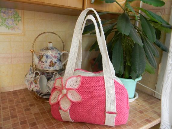 сумки из пакетов / Вязание