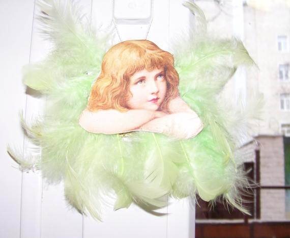 Игрушки из картона. Рождественский ангелочек.