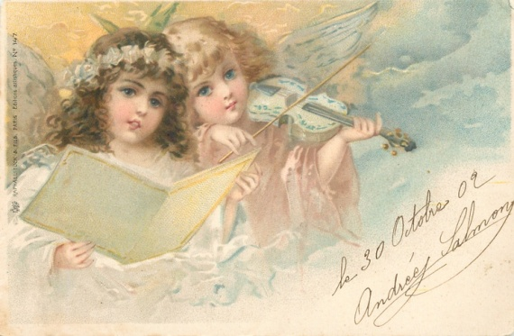 Рождественские ангелочки. Картинки для декупажа.. Обсуждение на...
