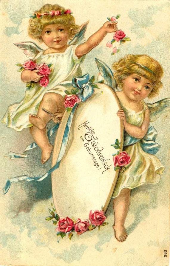 Картинки для декупажа. Рождественские ангелочки. Обсуждение на...