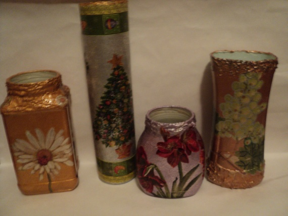 были баночки стали вазочки