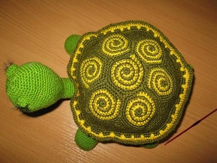 Вязание крючком черепаха со схемой 416