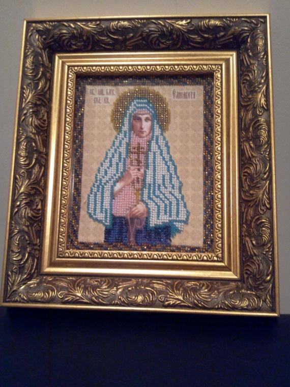 Икона Св.Елизавета (вышита бисером)
