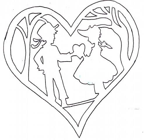 Трафареты ко дню святого валентина своими руками