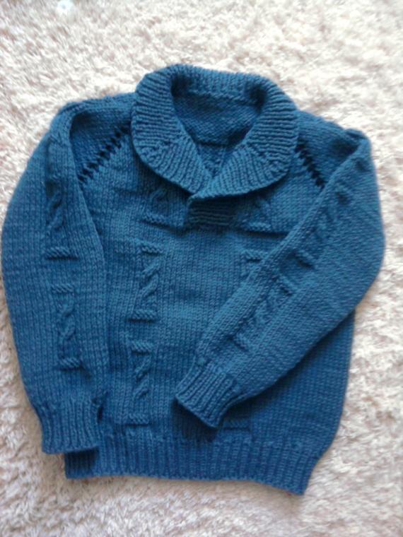 Пуловер для внука