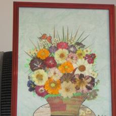 картины из сухих цветов