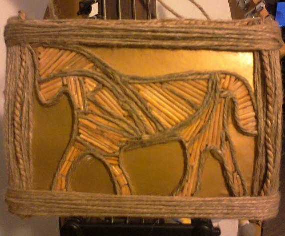 """Картина """"деревянная лошадь"""""""