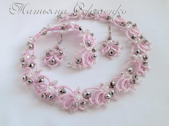 Комплект украшений Розовый