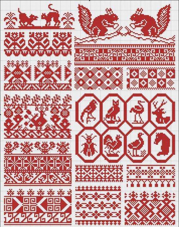 Узор скандинавская вышивка