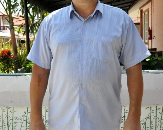 Украшаем мужа к лету или новая жизнь офисной рубашки