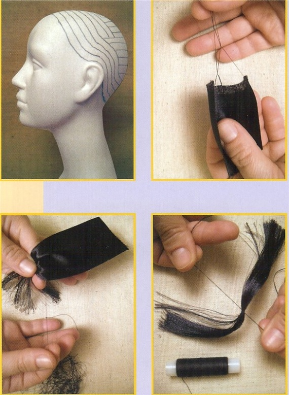 Куклы своими руками мк волосы
