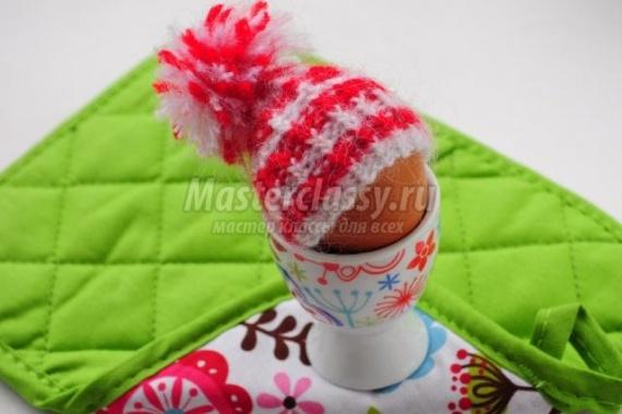 Вязаная шапочка для пасхального яйца