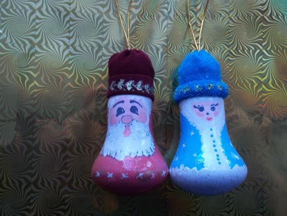 Снежинки, дед Мороз и Снегурочка