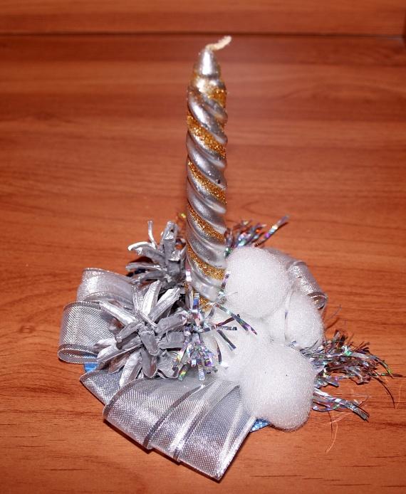 Первый опыт декорирования свечи, идея взята из мастер-класса Юлии Глуховой