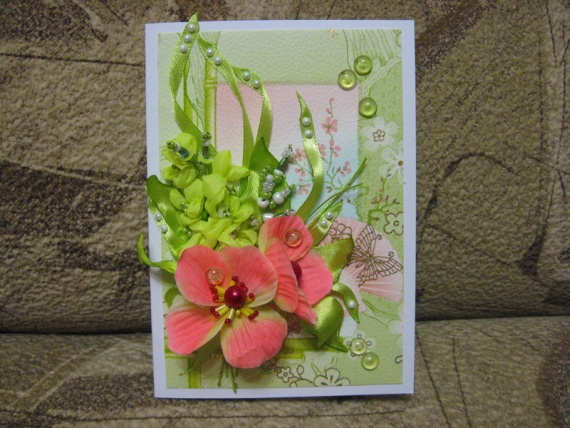 Мои мини-открытки к 8 Марта...