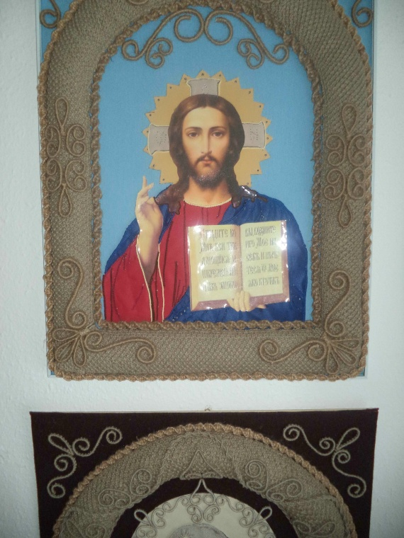 макраме-икона от Петерс Маргариты