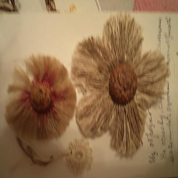 Макраме цветы из обрезков ниток от Петерс Розы