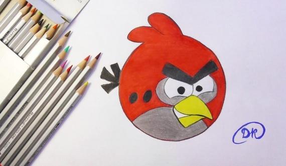 Как нарисовать птичку Angry bird