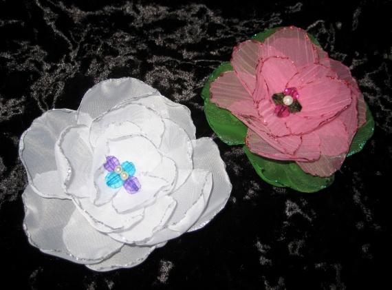 Красивые цветы из ткани для штор. Мастер-класс