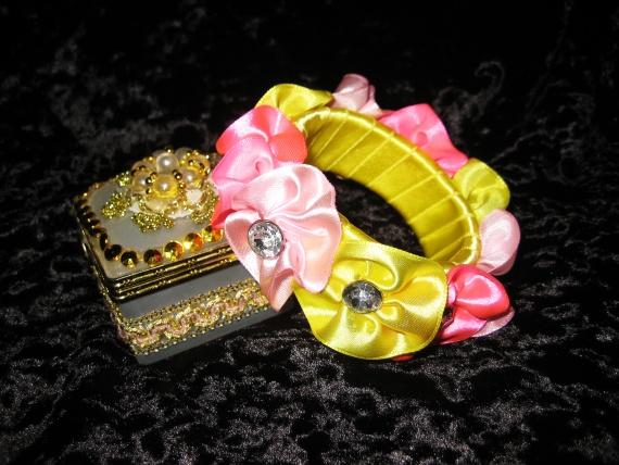 Яркий цветочный браслет. Мастер-класс
