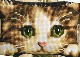 Котёнок. Для вышивки на страмине или Аиде 8