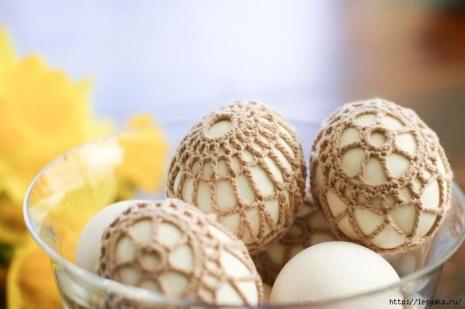 Ажурный чехол для пасхального яйца. Интернет-копилка