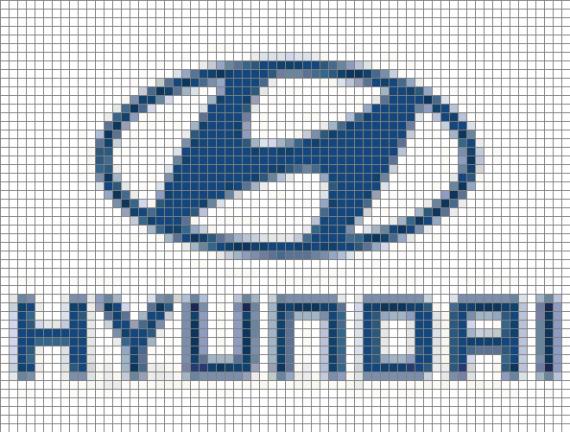 логотип hyundai из бисера
