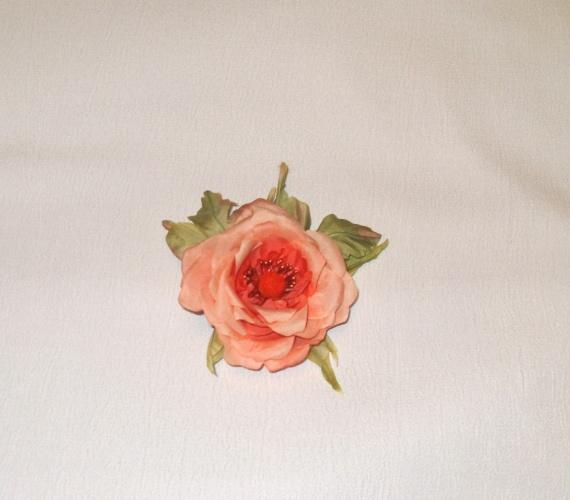 Роза брошь-заколка