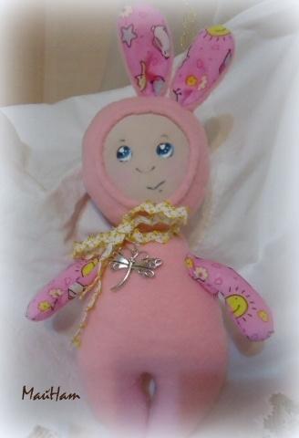 Розовая зайка МАЛЫШКА