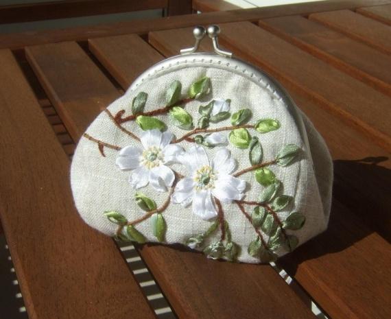 Мой первый блин... сумочка с фермуаром для косметики...