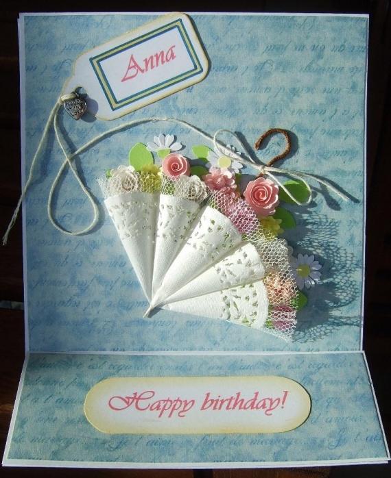 Скрапбукинг своими руками открытка на день рождения