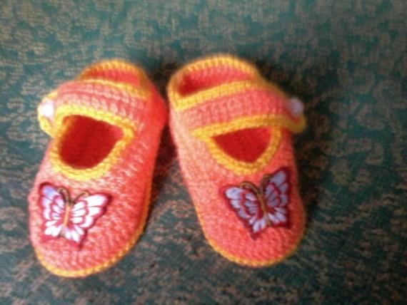 туфельки  с  бабочкой