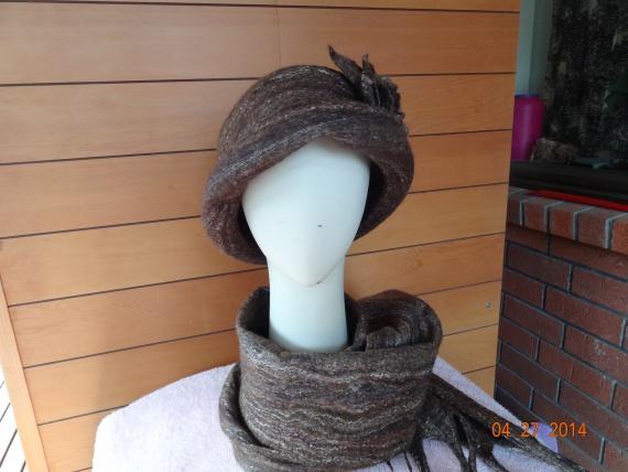 Зимний шоколад. Шапка и шарф.