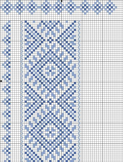Схема вышивки крестом галстука