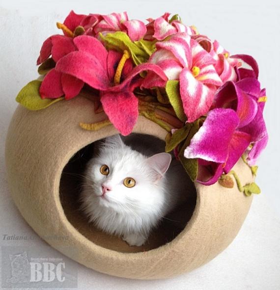 Войлок, домик для кошки