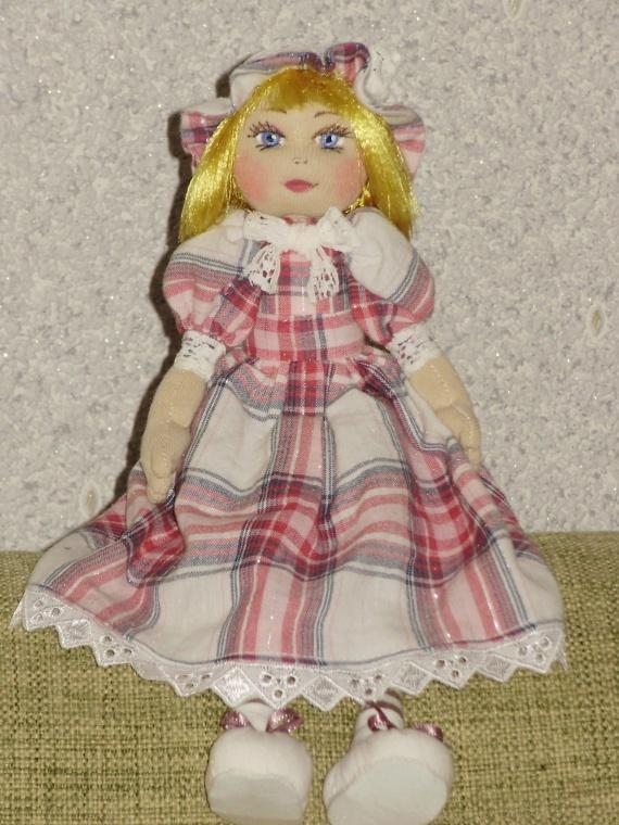 Авторская текстильная кукла Лиза.